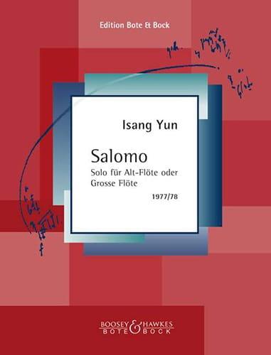 Salomo - Isang Yun - Partition - laflutedepan.com