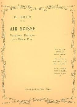Air suisse op. 20 Theobald Boehm Partition laflutedepan