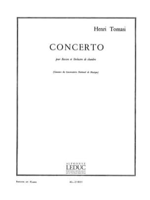 Concerto pour basson TOMASI Partition Basson - laflutedepan