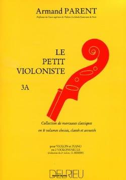 Le Petit Violoniste Volume 3A Armand Parent Partition laflutedepan