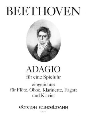 Adagio für eine Spieluhr -Flöte Oboe Klarinette Fagott Klavier laflutedepan