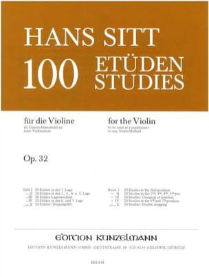 100 Etudes op. 32 - Cahier 5 Hans Sitt Partition Violon - laflutedepan
