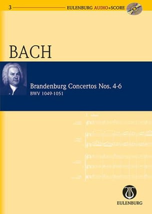 Concertos Brandebourgeois N° 4-6 - BWV 1049-1051 BACH laflutedepan