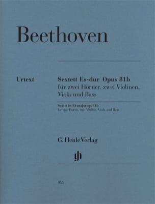 Sextuor en Mi bémol majeur op. 81b BEETHOVEN Partition laflutedepan