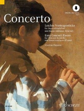 Concerto, Easy Concert Pieces Partition Flûte à bec - laflutedepan