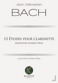 13 études pour clarinette BACH Partition Clarinette - laflutedepan