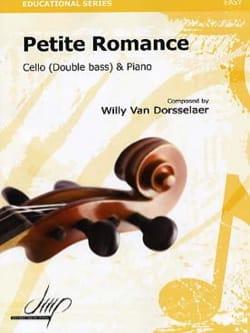 Petite romance Willy VAN DORSSELAER Partition laflutedepan