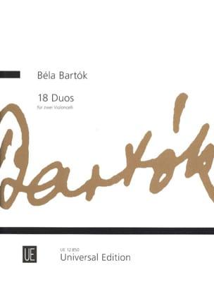 18 Duos für 2 Violoncelli BARTOK Partition Violoncelle - laflutedepan