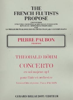 Concerto en Sol Majeur Op. 1 Theobald Boehm Partition laflutedepan