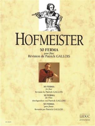 50 Ferma - Flûte - M. F. Hofmeister - Partition - laflutedepan.com