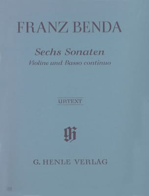 Sechs Sonaten für Violine und Basso Continuo Franz Benda laflutedepan