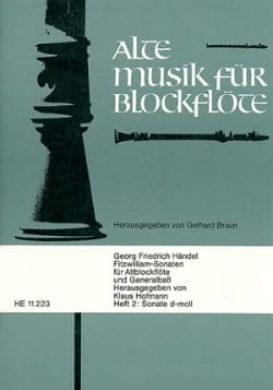 Fitzwilliam Sonaten - Heft 2 : Sonate d-moll HAENDEL laflutedepan