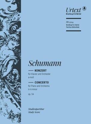 Piano Concerto in A minor Op. 54 SCHUMANN Partition laflutedepan