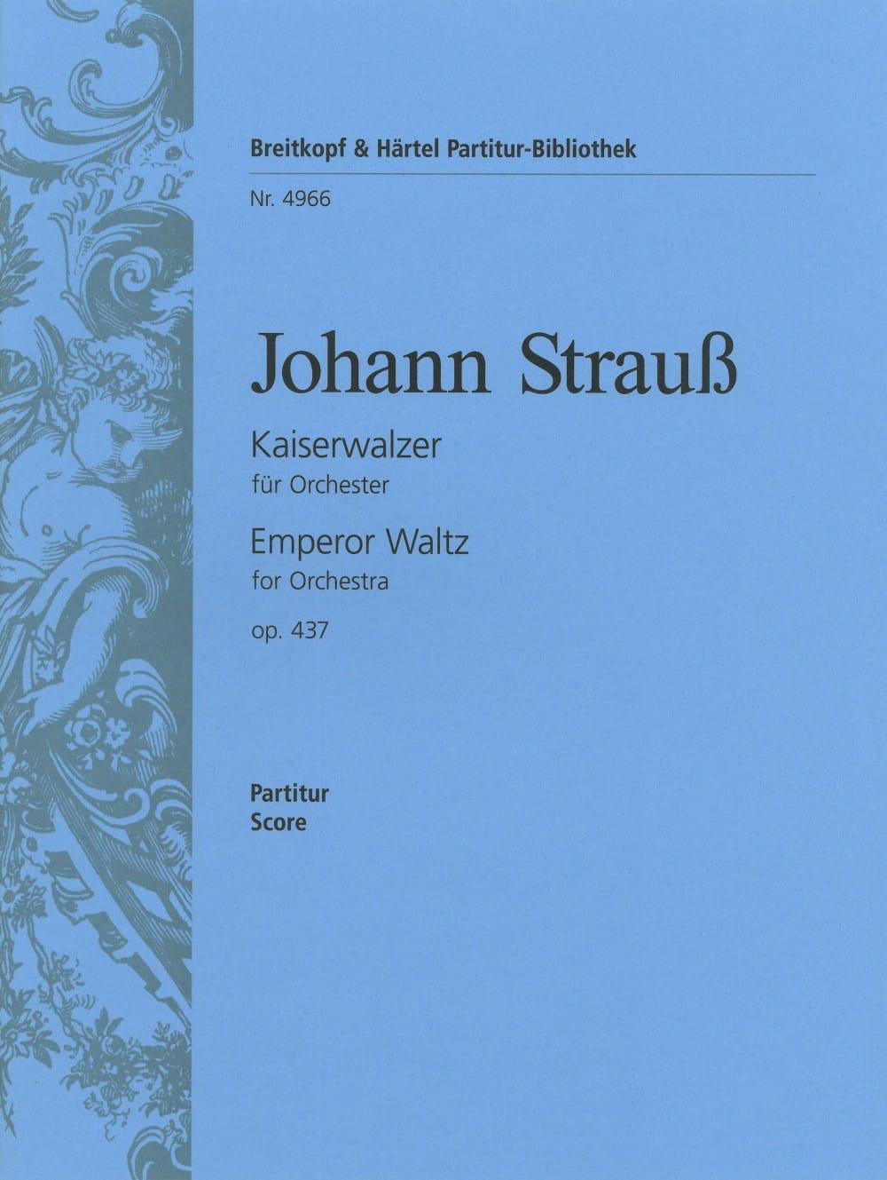 Kaiserwalzer op. 437 - Partitur - Johann Strauss - laflutedepan.com