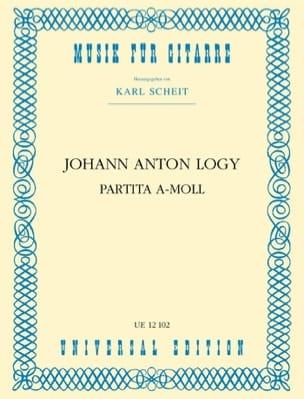 Partita A-Moll -guitarre Johann Anton Logy Partition laflutedepan