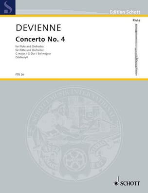 Concerto n° 4 G-Dur - Flöte Klavier DEVIENNE Partition laflutedepan