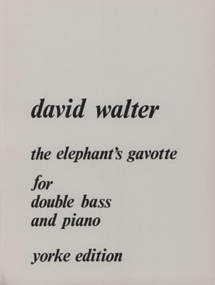 The elephant's gavotte David Walter Partition laflutedepan