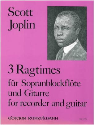 3 Ragtimes - Sopranblockflöte Gitarre JOPLIN Partition laflutedepan