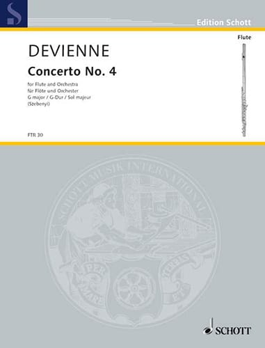 Concerto n° 4 G-Dur - Flöte Klavier - DEVIENNE - laflutedepan.com