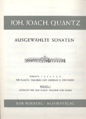 Sonata Nr. 7 -2 Flöten Bc - QUANTZ - Partition - laflutedepan.com
