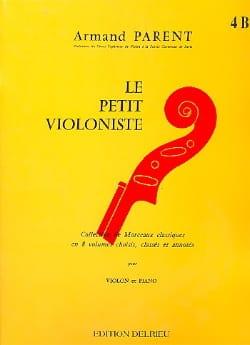 Le Petit Violoniste Volume 4B Armand Parent Partition laflutedepan