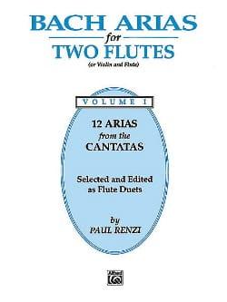 Bach Arias - Volume 1 - Flute Duet BACH Partition laflutedepan