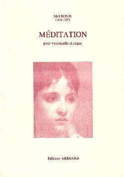 Méditation - Violoncelle et ORGUE Mel Bonis Partition laflutedepan