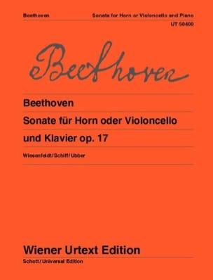 Sonate pour Cor ou Violoncelle et piano BEETHOVEN laflutedepan