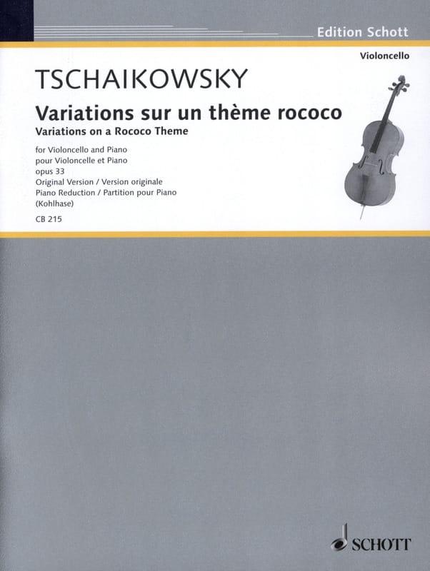 Variations Sur un Thème Rococo Op.33 - laflutedepan.com