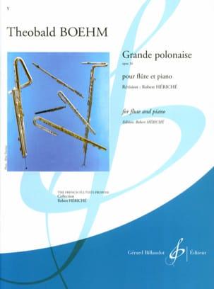 Grande Polonaise op. 16 Theobald Boehm Partition laflutedepan