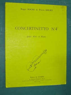 Concertinetto n° 4 Roche Roger / Doury Pierre Partition laflutedepan