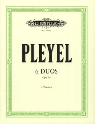 6 Duos op. 59 Ignaz Pleyel Partition Violon - laflutedepan