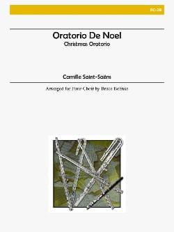Oratorio de Noël SAINT-SAËNS Partition laflutedepan