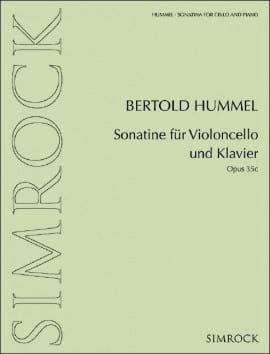 Sonatine, opus 35c HUMMEL Partition Violoncelle - laflutedepan