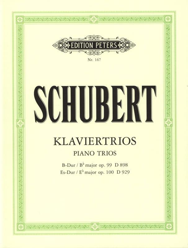 Klaviertrios : op. 99 D 989 B-Dur -op. 100 D 929 Es-Dur - Stimmen - laflutedepan.com