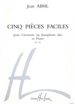 5 Pièces faciles op. 138 Jean Absil Partition laflutedepan