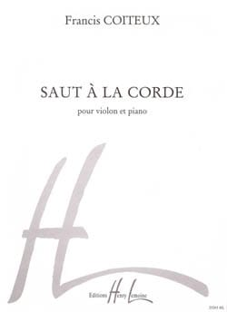 Saut à la corde Francis Coiteux Partition Violon - laflutedepan