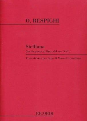 Siciliana -Arpa - RESPIGHI - Partition - Harpe - laflutedepan.com