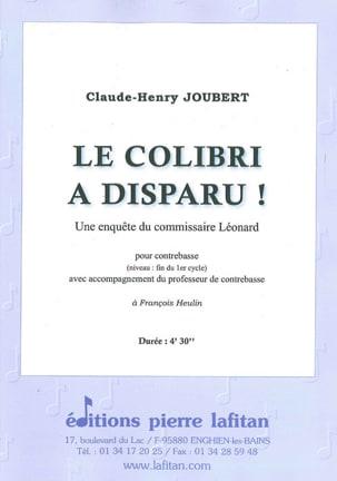 Le colibri a disparu ! Claude-Henry Joubert Partition laflutedepan