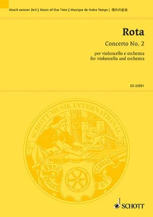 Concerto n° 2 - Conducteur ROTA Partition Grand format - laflutedepan