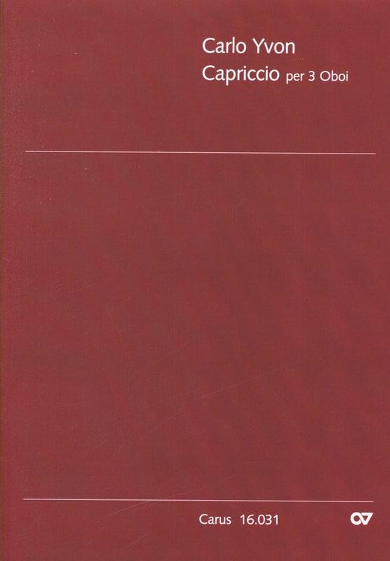 Capriccio per 3 Oboi - Carlo Yvon - Partition - laflutedepan.com