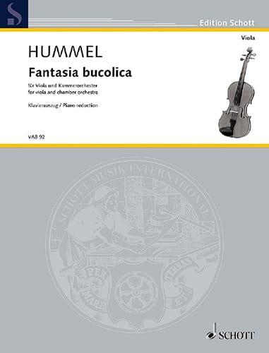 Fantasia Bucolica - HUMMEL - Partition - Alto - laflutedepan.com