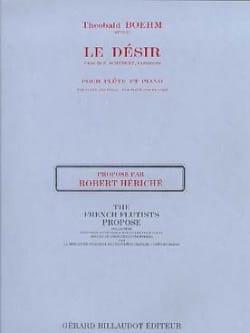 Le Désir op. 21 - Flûte et piano Theobald Boehm Partition laflutedepan