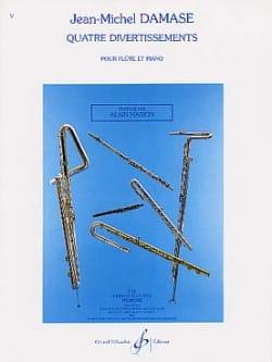 Quatre divertissements - Flûte piano Jean-Michel Damase laflutedepan