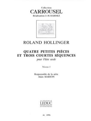 4 Petites pièces et 3 Courtes séquences Roland Hollinger laflutedepan