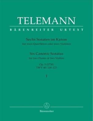 6 Sonates en canon op. 5 volume 1 - 2 flutes ou 2 violons laflutedepan