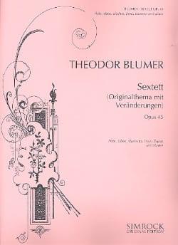 Sextett op. 45 - Flöte Oboe Klar. Horn Fag. Klavier laflutedepan