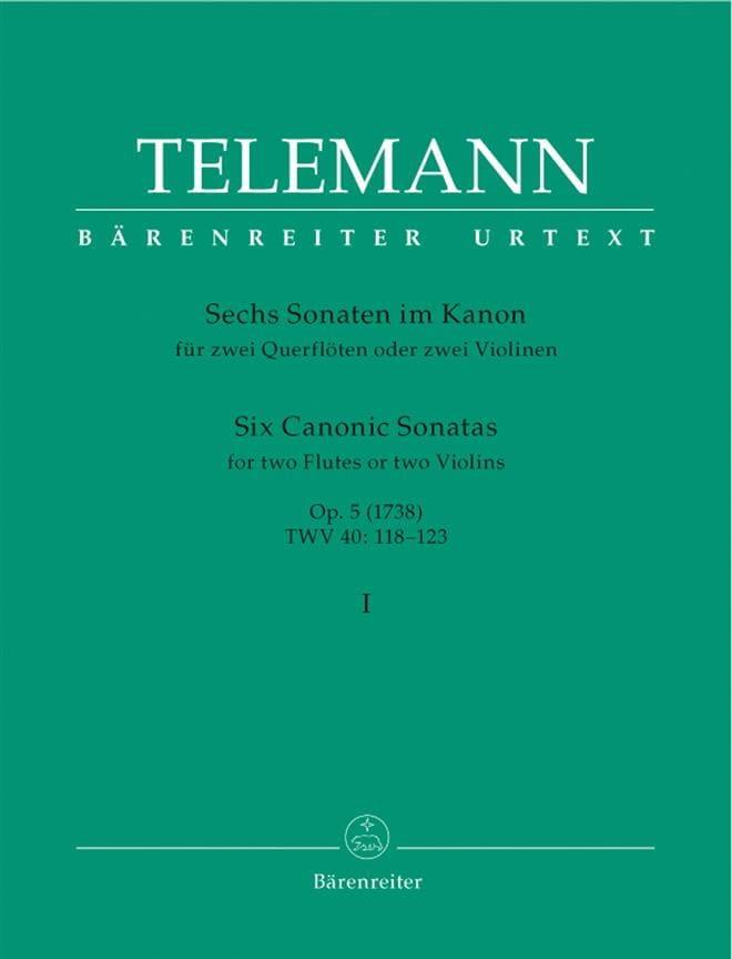 6 Sonates en canon op. 5 volume 1 - 2 flutes ou 2 violons - laflutedepan.com