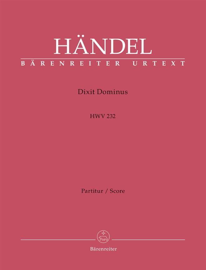 Dixit Dominus - HAENDEL - Partition - Grand format - laflutedepan.com