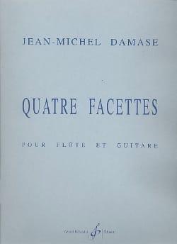 Quatre facettes Jean-Michel Damase Partition Duos - laflutedepan